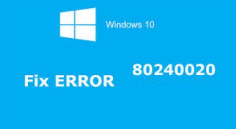 consertar Windows 10 atualizar erro 80240020
