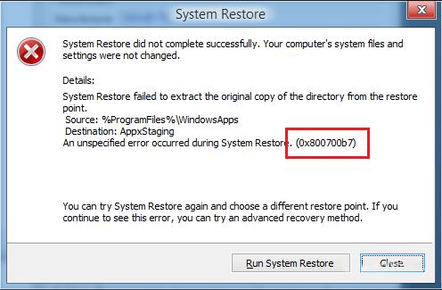 como reparar backup e restauração e se livrar do erro 0x800700b7