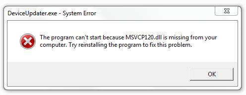 como se livrar do erro Msvcp120.dll