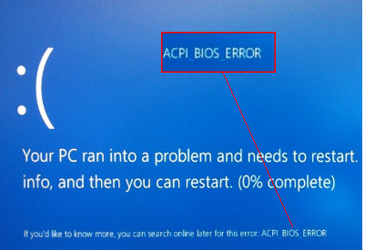 excluir ACPI_BIOS_ERROR no Windows 10