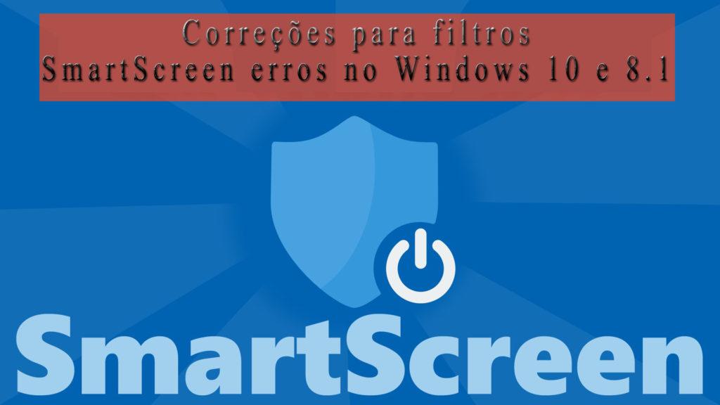 Filtros SmartScreen no Windows 8.1