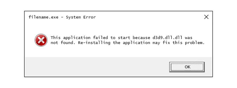 Livrar-se de d3d9.dll está faltando erro