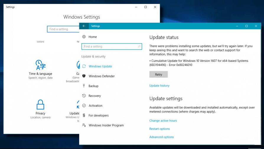 remover o erro de atualização 0x80246010 no Windows 10
