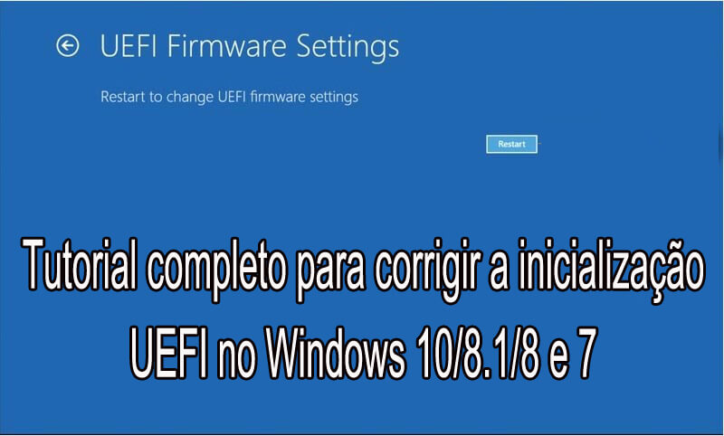 remover UEFI Boot no Windows 10