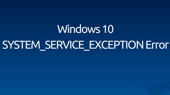 livrar-se do erro System_Service_Exception