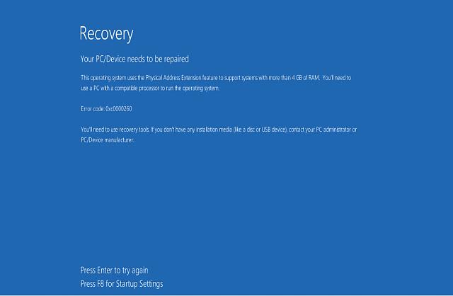 reparar erro 'Arquivo de dados de configuração de inicialização está ausente' no Windows 10