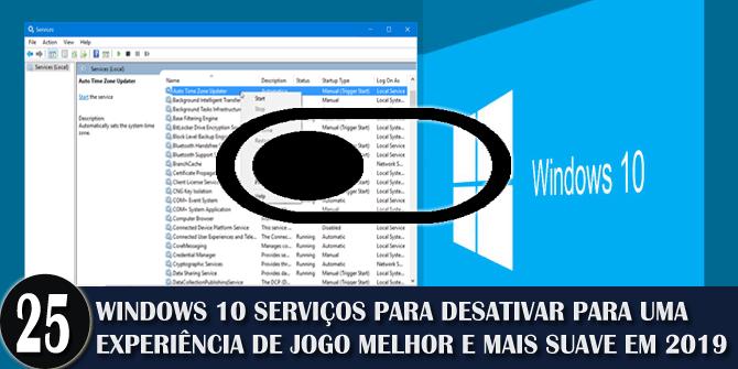 desligar o Windows 10 serviços